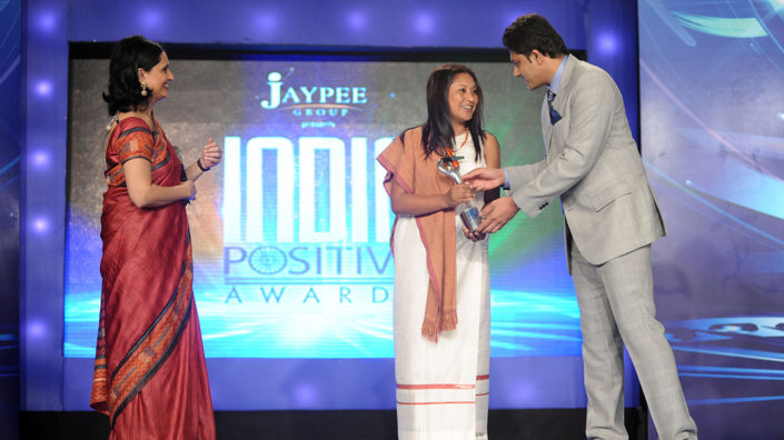 Hasina Kharbhih - CNN IBN India Positive Awards Oct 2012