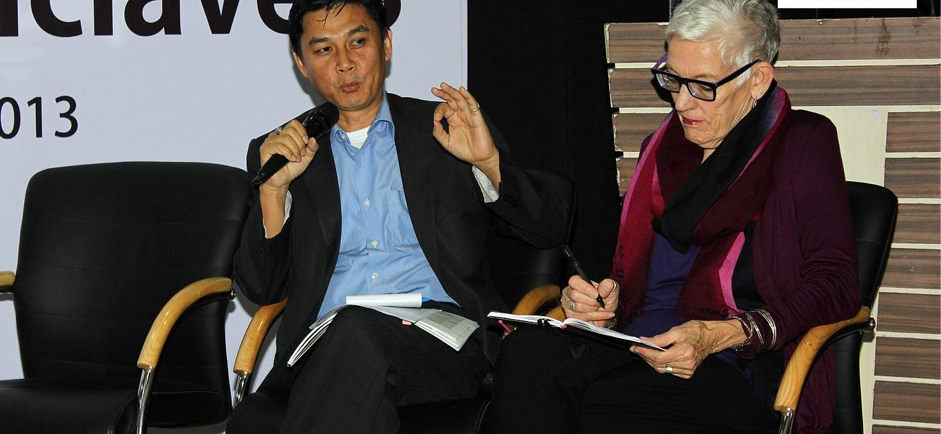 Advocate Babloo Loitongbam of Human Rights Alert; and Ms Florrie Burke, Chair Emeritus of the Freedom Network