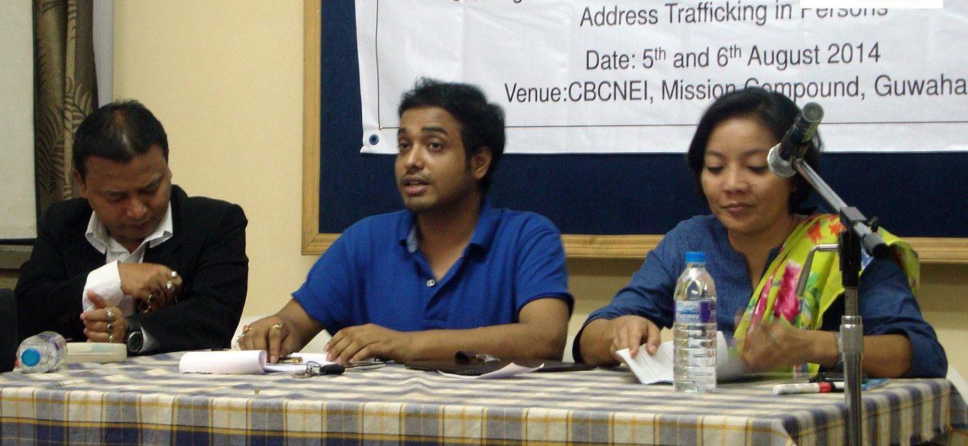Advocate Santanu Kumar – Sarkar. Miguel Queah - Founder Chairman; Miranda Ingtipi - Additional SP, CID Assam.