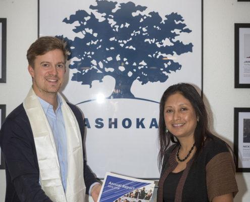 Florian Rutsch - Fellowship Manager, ASHOKA Support Network; Hasina Kharbhih - Chair of Board, Impulse NGO Network