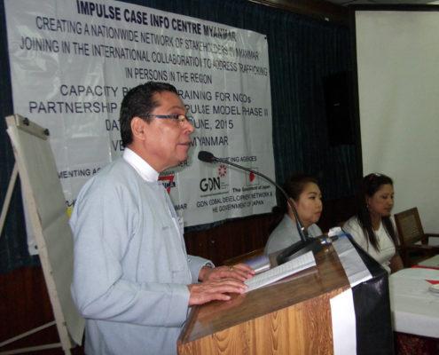 U Maung Maung Win - General Secretary Myanmar YMCA.
