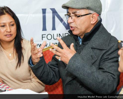 Kapil Kafle of Nepal, at the Impulse Model Press Lab Inaugural Consultation